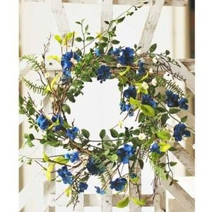 """Other - Blue Dream Floral Foliage and Trig 22"""" Wreath"""